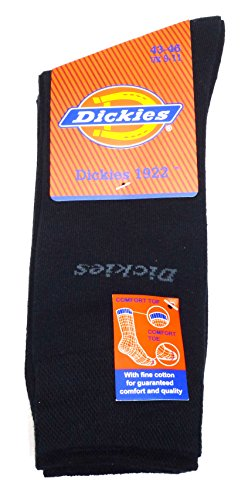 Dickies Herren Socken 10 Paar Schwarz, wählbar in 39-42 / 43-46, Businesssocken, Stümpfe, jedes Sockenpaar andersfarbig bedruckt, bunte (43-46 / 15 Paar) (Socken Dickies Herren)