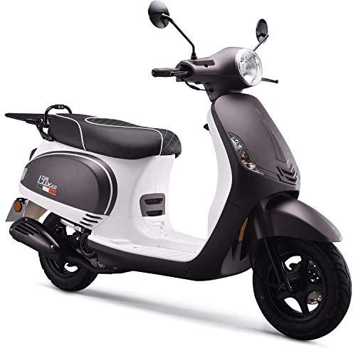 iVA Motorroller LUX Euro-4-Norm 45km/h Grau-Weiß