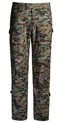QCHENG Taktisches Hose Airsoft Männer schießen BDU Combat Camouflage Camo Kampf Tactical Military Paintball Uniform Armee Digitaler Dschungel XL -