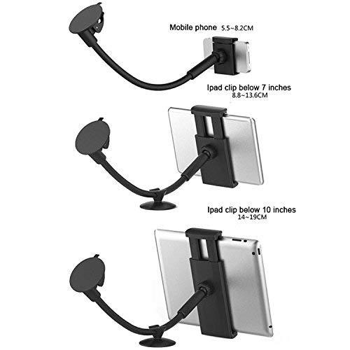 LEDELI CD Schacht KFZ Auto Tablet PC Halterung Handy Smartphone Magnethalterung Autohalterung für Armaturenbrett Kopfstützenhalterung (mit 350mm Schwanenhals)