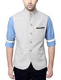Van Heusen Men's Slim Fit Plain Blazers (Grey, 42, 8907271533270)