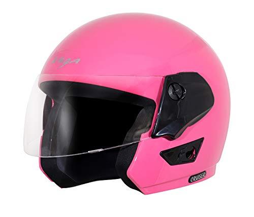 Vega Cruiser Open Face Helmet (Pink, L)