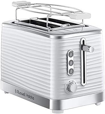 Russell Hobbs 24370–56Tostadora, 1050, brillante de plástico, color blanco