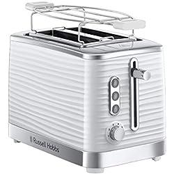 Russell Hobbs Grille Pain, Toaster Extra Large Inspire, Contrôle Brunissage, Décongéle et Réchauffe, Chauffe Viennoiserie Inclus - 24370-56