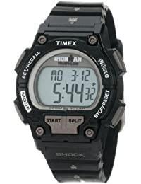 Ironman Men's Quartz Watch with LCD Dial Digital Display and Black Resin Strap T5K556SU