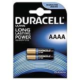 Duracell-Lote de 2Pilas Ultra AAAA-1.5V-Pilas alcalinas AAAA