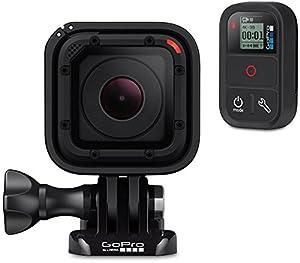 GoPro HERO Session Actionkamera (8 Megapixel, 38 mm, 38 mm, 36,4 mm) + GoPro Smart Remote (Wasserdicht, bis zu 180 m Reichweite, Bedienung von bis zu 50 Kameras gleichzeitig, geeignet für Actioncam-Fernbedienung)
