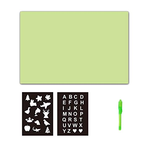 eamqrkt Kids A3 A4 LED Tracing Light Board Drawing Pad Table Stencil Draw  with Light In Dark