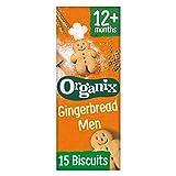 Organix Goodies Gingerbread Men 135g (Pack of 6, Total 90 biscuits) (organic)