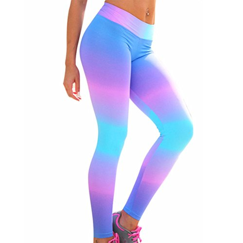 Morbuy Damen Leggings Sporthose, Sport Gym Yoga Workout Pants Basic Fitness Hohe Taille Jogginghose Trainingshose Skinny Hosen Hose Camouflage Stitching Perspektive schwarz (S, Camo)