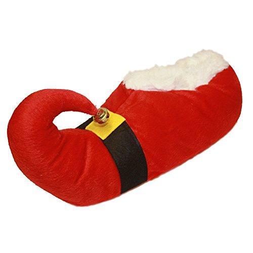 Erwachsene Unisex Neuheit Weihnachten Pantoffeln mit Glocke ~ Santa oder Elfen Santa