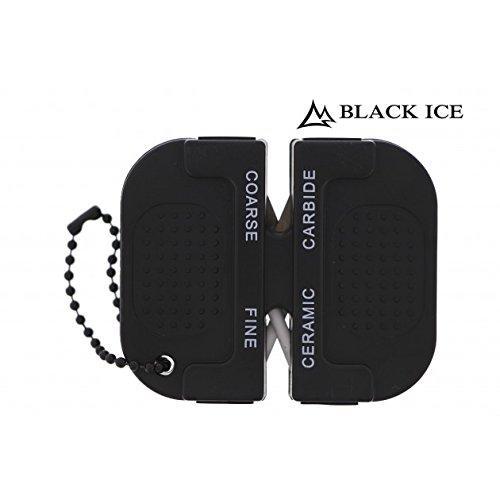 Black Ice 2 in 1 Messerschärfer für Outdoor, Garten, Haushalt und Camping
