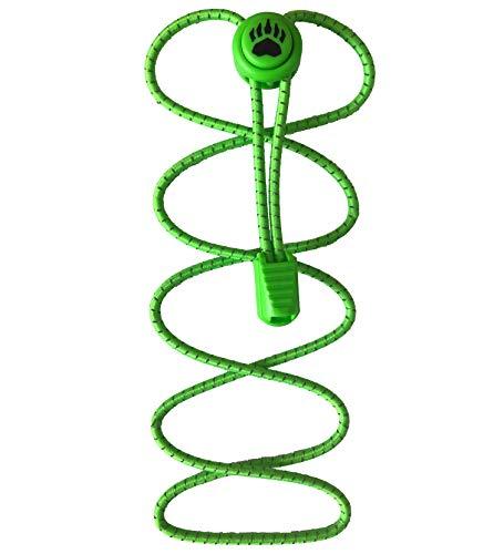 Bearformance Schnürsenkel mit Schnellverschluss Elastische Sportschnürsenkel - Schnellschnürsystem schleifenlos ohne binden (Grün)