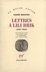 Lettres à Lili Brik: (1917-1930)