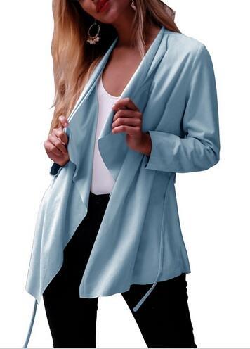 SunIfSnow donna Loose Cardigan a maniche lunghe, camicette morbido punto aperto cappotto Blue Medium