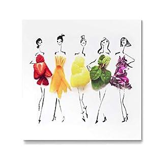 artboxONE Galerie-Print 40x40 cm Rainbow Fashion hochwertiges Acrylglas auf Alu-Dibond von Gretchen Roehrs