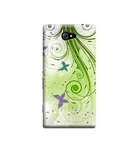 Ebby Premium Printed 3D Designer Back Case Cover For Sony Xperia M2 (Premium Designer Cae)