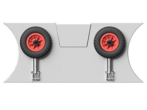 Slipräder für Schlauchboot, EDELSTAHL (Salzwasser) - DeluxeTrans PU200 SR (schwarz/rot)