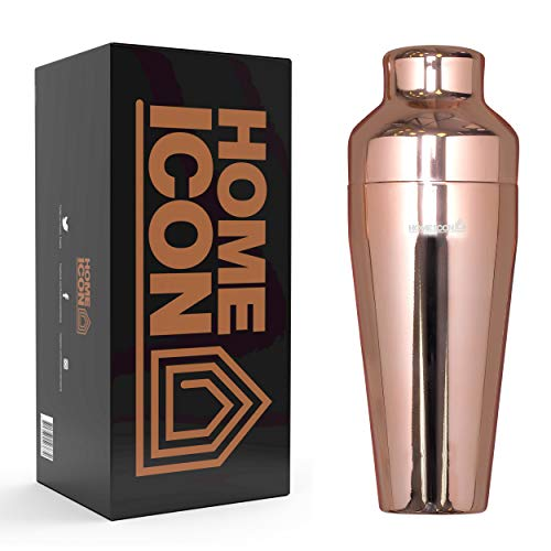 Home Icon Cocktail-Shaker mit Deckel, kupferfarben, 750 ml