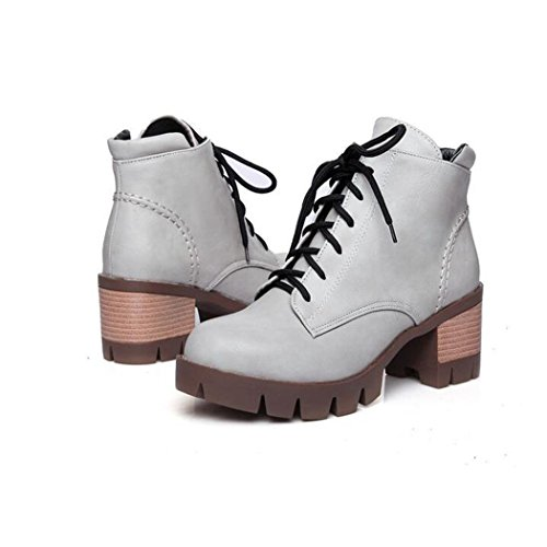 Zq @ Qx En Otoño E Invierno, La Cabeza Redonda Y Gruesa De Taiwan Con Zapatos De Tacón Alto En La Moda, El Presidente Martin Botas Una Gran Cantidad De Zapatos De Mujer Superficial