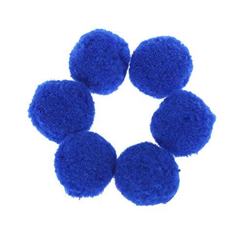 LUCHA 5 cm Pompons zum Basteln,, Acryl, Hobbyzubehör, DIY kreative Bastelarbeiten, Dekorationen, 48 Stück dunkelblau