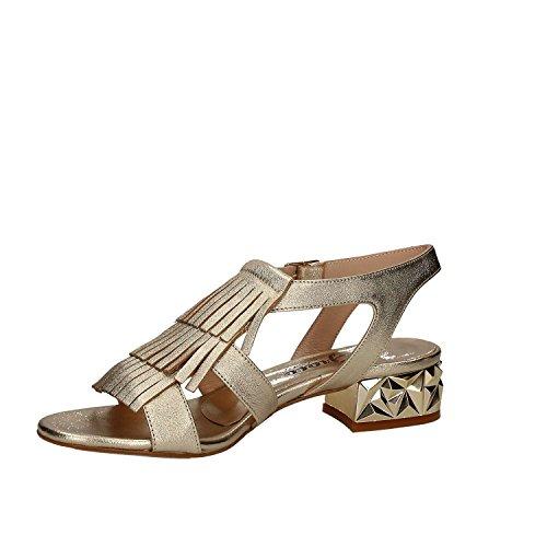 GRACE SHOES 232 3092 Sandalo tacco Donna Platino