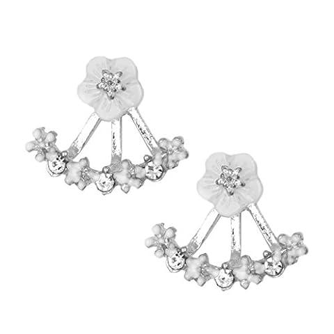 Ohrring,Dairyshop 1Pair Art und Weisefrauen Mädchen Blumenrhinestone Ohr Bolzen Ohrring Schmucksachen elegant