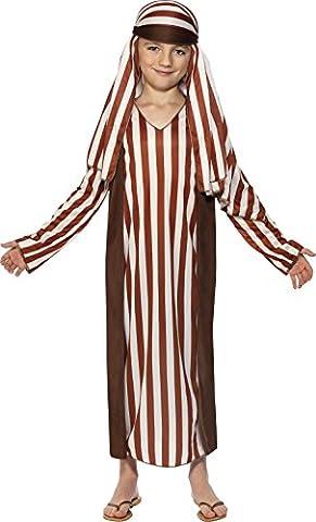 Smiffys Déguisement Enfant, Berger de la Nativité, avec robe et coiffe, Âge 10-12 ans, Couleur: Brun,