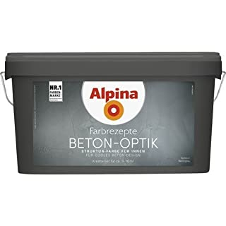 Alpina Farbrezepte BETON ART Komplett-Set: 3 L. Basis, 1 L. Finish, Innenfarbe
