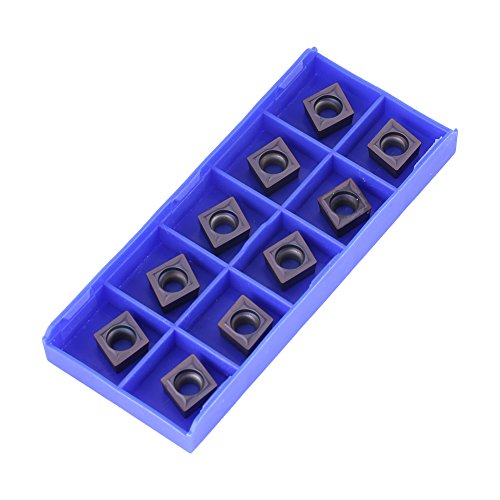 10pcs CNC Hartmetall Einsatzschneider Wendeschneid Drehmaschine Fräseinsätze Drehen Werkzeuge mit Box CCMT09T304 VP15TF für Regular Steel (Tool Rot Box Steel)
