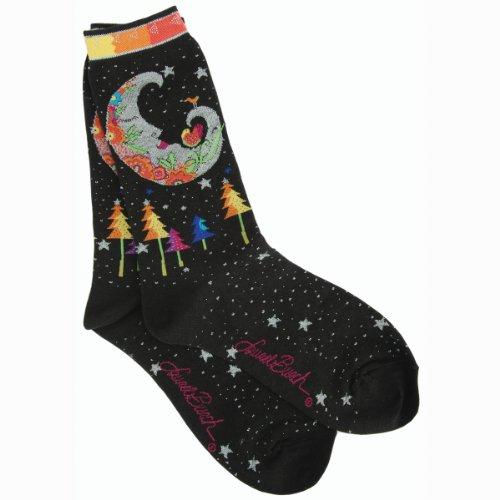 laurel-burch-socks-mystic-moon-black