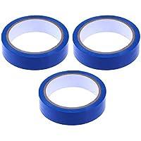 UKCOCO 3 Rollos 24mm * 20m Cinta de Precaución Cintas de Advertencia de PVC Impermeable Antideslizante Bandas de Seguridad de Seguridad para la Escuela de Fábrica de Almacén Hogar (Azul)