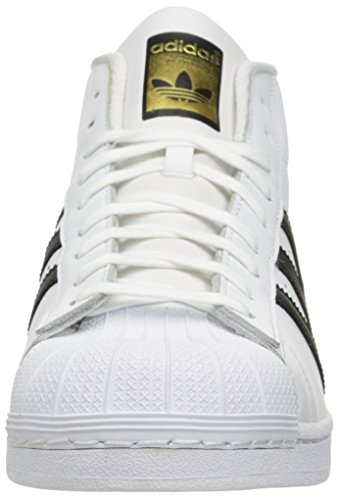 Adidas Pro Model, Scarpe a Collo Alto Uomo White/Black/White