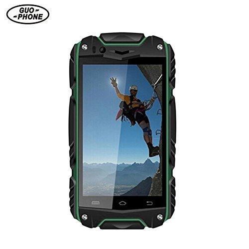 "GUOPHONE Smartphone Ohne Vertrag, V8 Doppel-Sim Wasserdichtes Telefon 4G ROM Android 4.4 Außentelefon Doppelkern MTK6572 512 MB RAM 4.0"" IPS mit Wifi GPS"