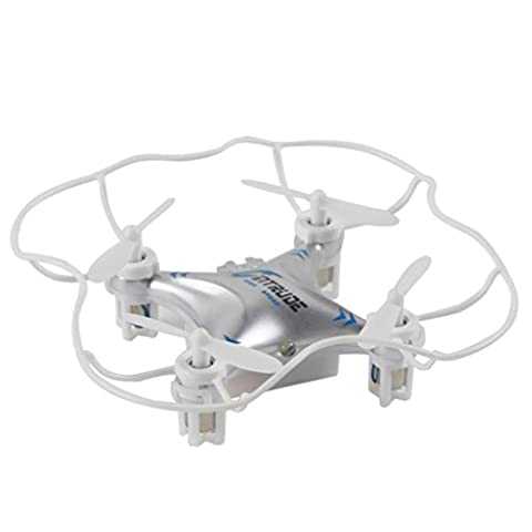 LHWY 2016 New M9912 2.4G 4CH 6 Axis Mini Drone Quadcopter Gyro RC UFO (Argent)
