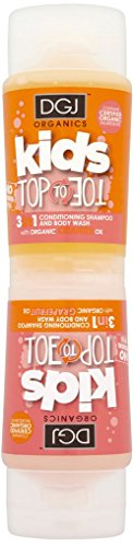 DGJ Organics Kids Top to Toe 3 in 1 Body Wash Orange and Grapefruit 250ml