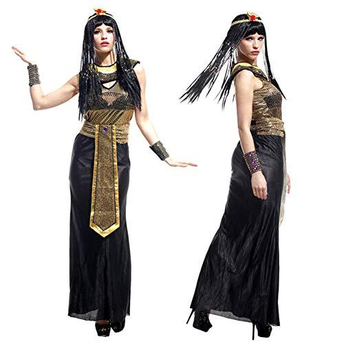 Weibliche Ägyptische Kostüm - AINI Weibliche Halloween-Kostüm weibliche Halloween-Kostüm, Cosplay Halloween-Party-Outfit für Erwachsene, Kleid/Gürtel/Kragen/Schlange Kopf/Armschienen