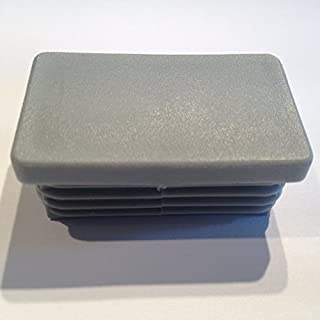 10 Stück Schutzkappe Lamellenstopfen 50x30, WS 1,5-2,50mm, Farbe (Farbe silbergrau (RAL 7001))