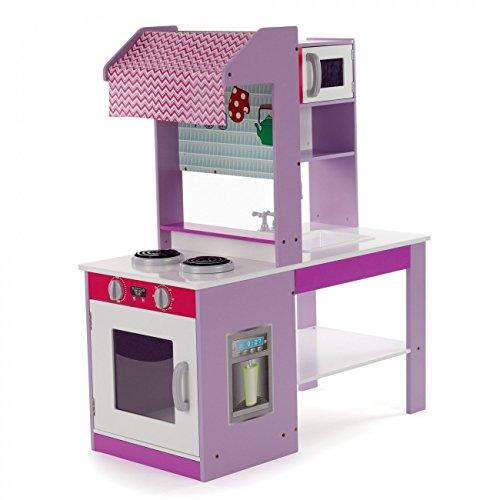 Baby Vivo Kinderküche Spielküche aus Holz Kinderspielküche Küche Holzküche Spielzeugküche Tante Emma