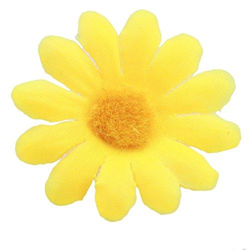 Bellecita Schöne Hochzeitsartikel Mini Sun Blume Simulation Blume Hochzeit Dekor schöne künstliche Sonnenblume Party Szene Prop (gelb)