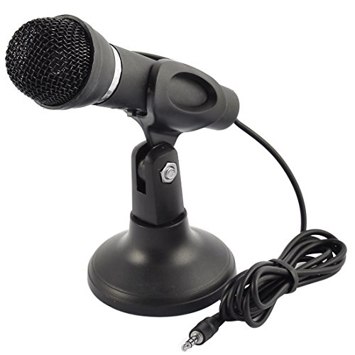 sourcingmap® 3.5mm Stereo Condenser Microphone Stand for Laptop Digital Voice Recorder