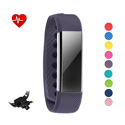 Pulsera inteligente y reloj Sleepa con control del sueño para iPhone y Android. Reloj podómetro que registra la actividad física y la frecuencia cardíaca, de STAY Active, negro