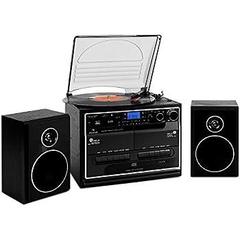 philips ott2000b retro soundsystem mit bluetooth lp wiedergabe usb rip usb ukw cd mp3. Black Bedroom Furniture Sets. Home Design Ideas