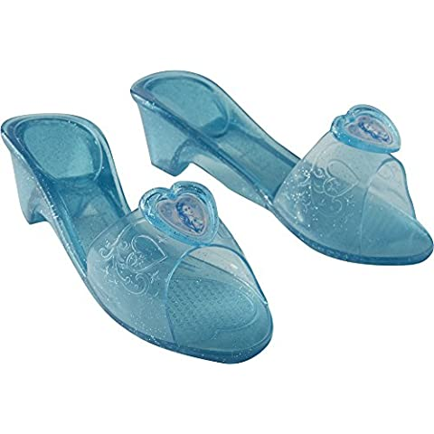 Princesas Disney - Zapatos de Cenicienta, para niñas, talla M, color azul (Rubie's 32531)
