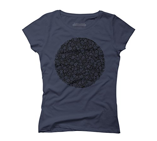 Floral ring Women's Graphic T-Shirt - Design By Humans Navy
