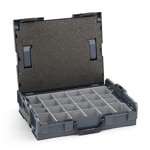 Bosch Sortimo Werkzeugkoffer-Set • L-Boxx 102 anthrazit • bestückt mit Ordnungssystem Insetboxen-Set K3