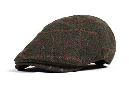 WITHMOONS Béret Casquette Chapeau Wool Newsboy Hat Flat Cap SL3022 Vert