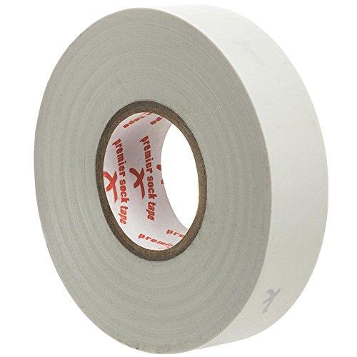 Premier Sock Tape Klebeband, 19 mm Pro Extra Stretch Fußball, Rugby-Socken Weiß weiß Einheitsgröße
