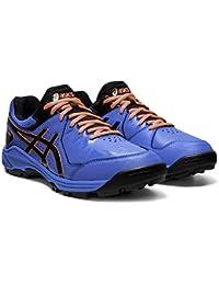 Asics Gel-Peake - Zapatillas de hockey para hombre, azul - rojo / naranja - negro, 42 1/2