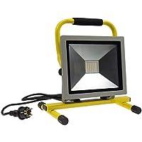 LED Foco Trabajo Lámpara Foco de 30hasta 100W I MAX. 6500lúmenes Blanco Neutro 4200K Soporte Cable DE 1,4m Cristal de Seguridad